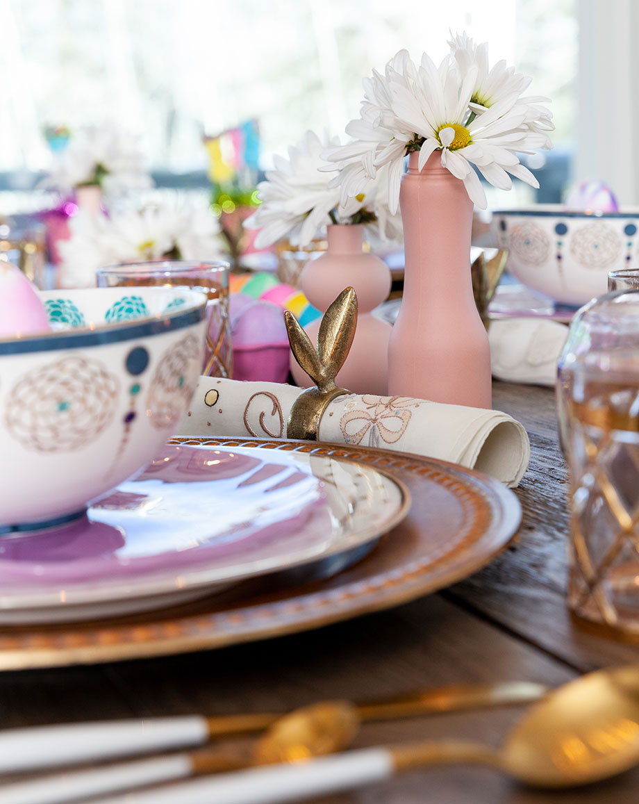 A peek at the details on Corri McFadden's Easter table.