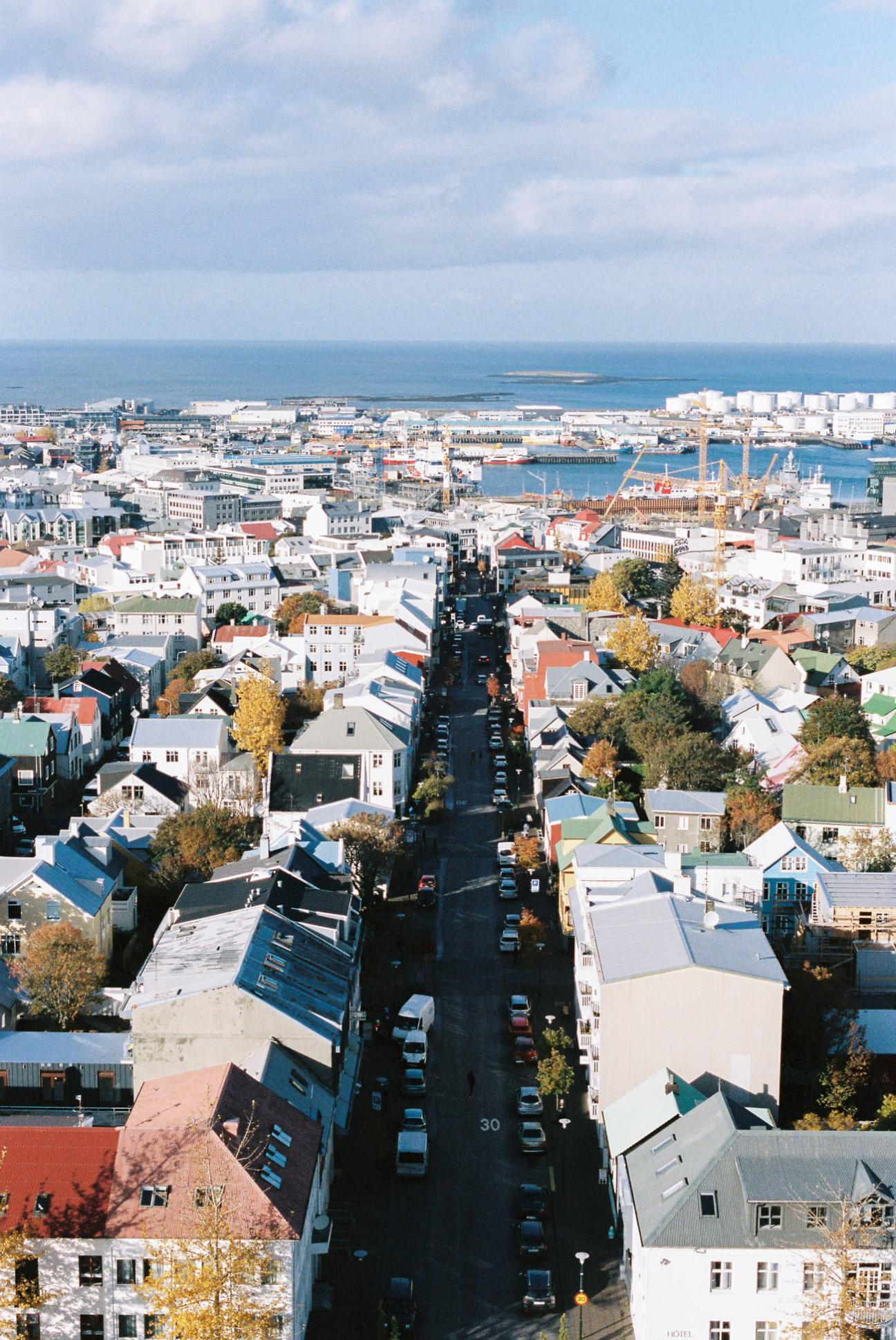 Reykjavik from the Hallgrims Cathedral.