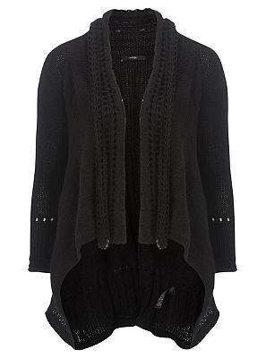 Black Waterfall Cardigan - George at ASDA