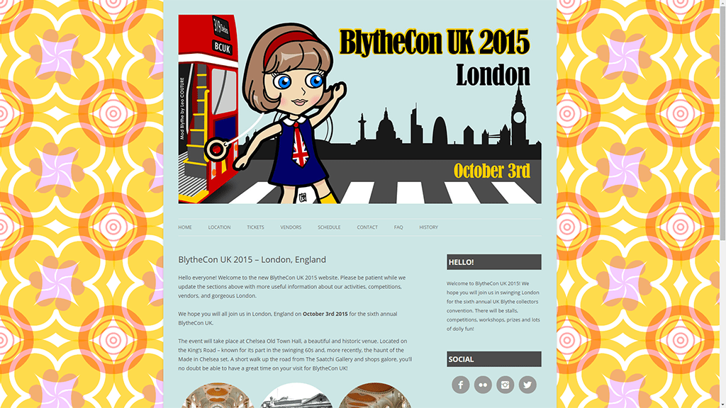 BlytheCon UK 2015 London – Site Design
