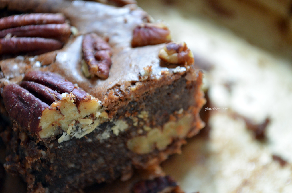 Amaretto Pecan (Gluten Free!) Brownies
