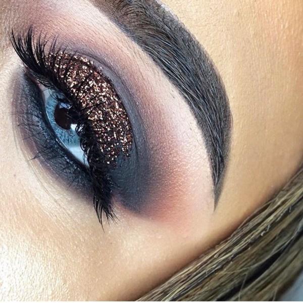 Bronze glitter Unicorn Liquid eyeliner Glitter Girl