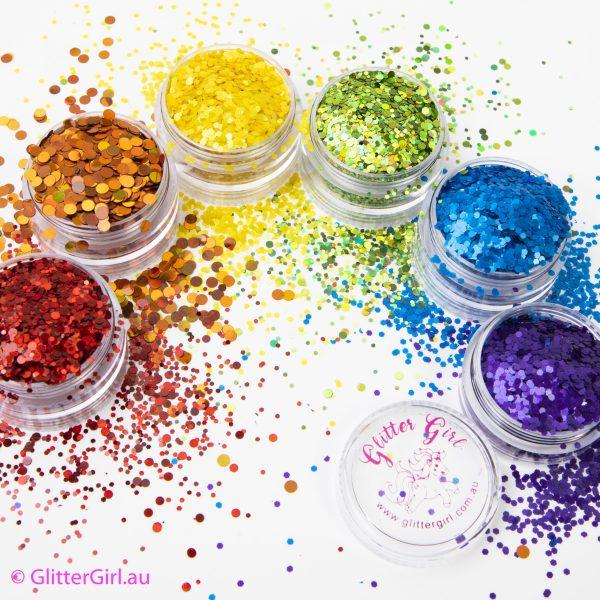 Mardi Gras Glitter Rainbow