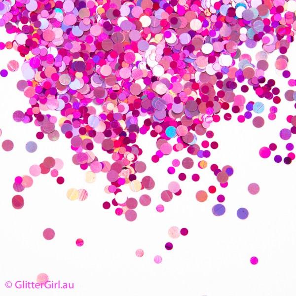 pink disco glitter girl