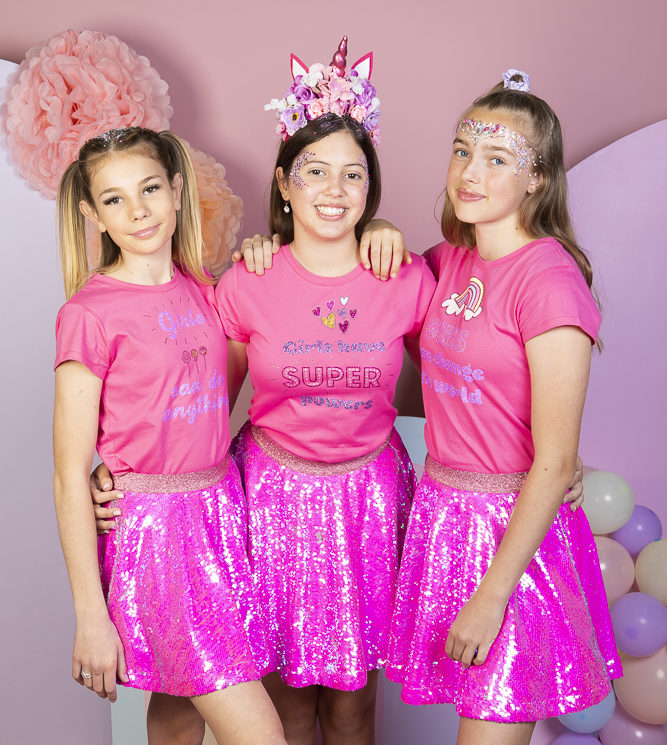 GG Pink sequin Skirt