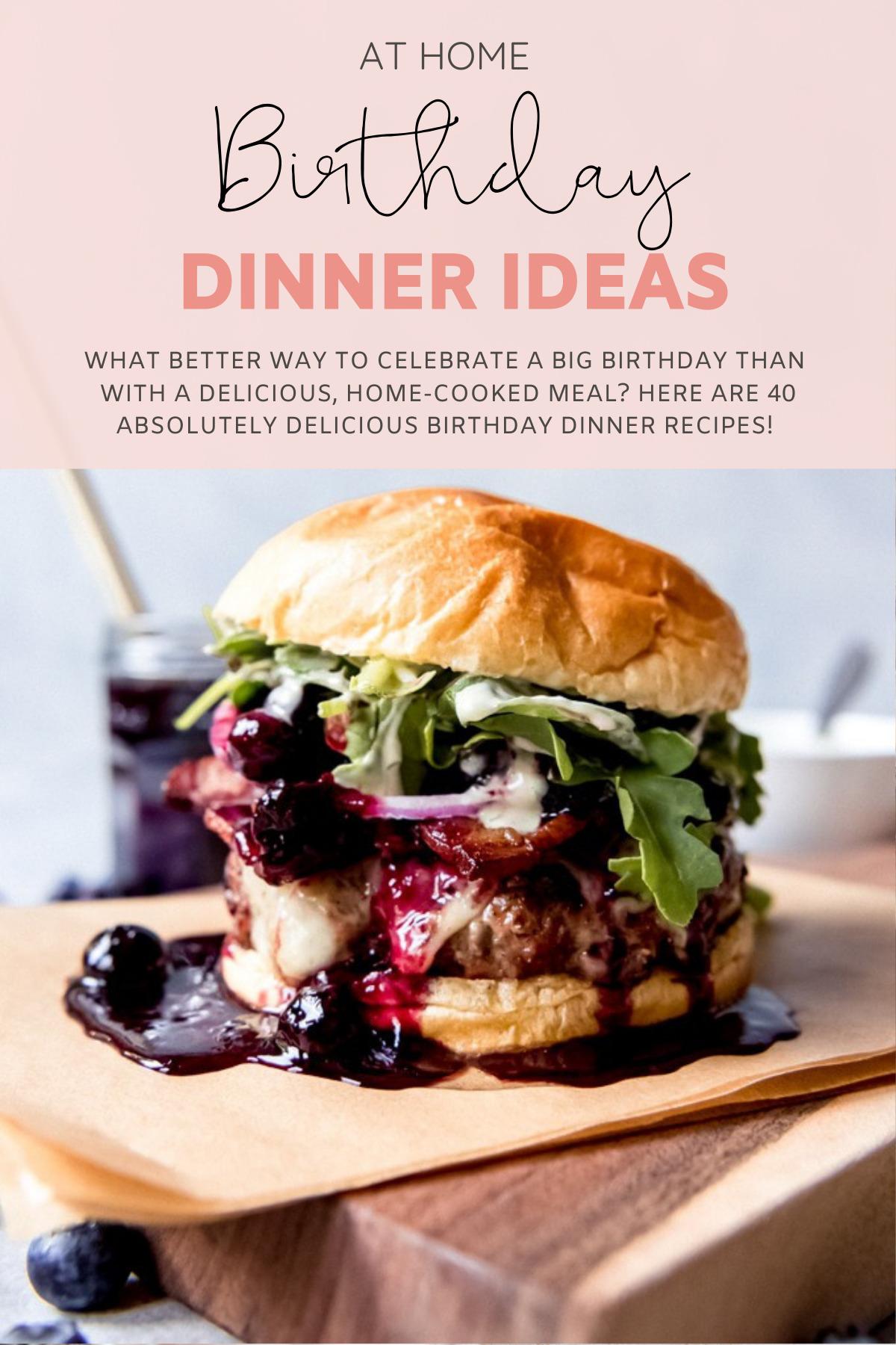 40 Birthday Dinner Ideas At Home Glitter Inc Blog