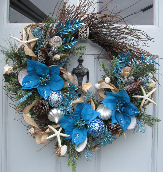 nautical christmas decorations and wreaths - Nautical Christmas Decorations