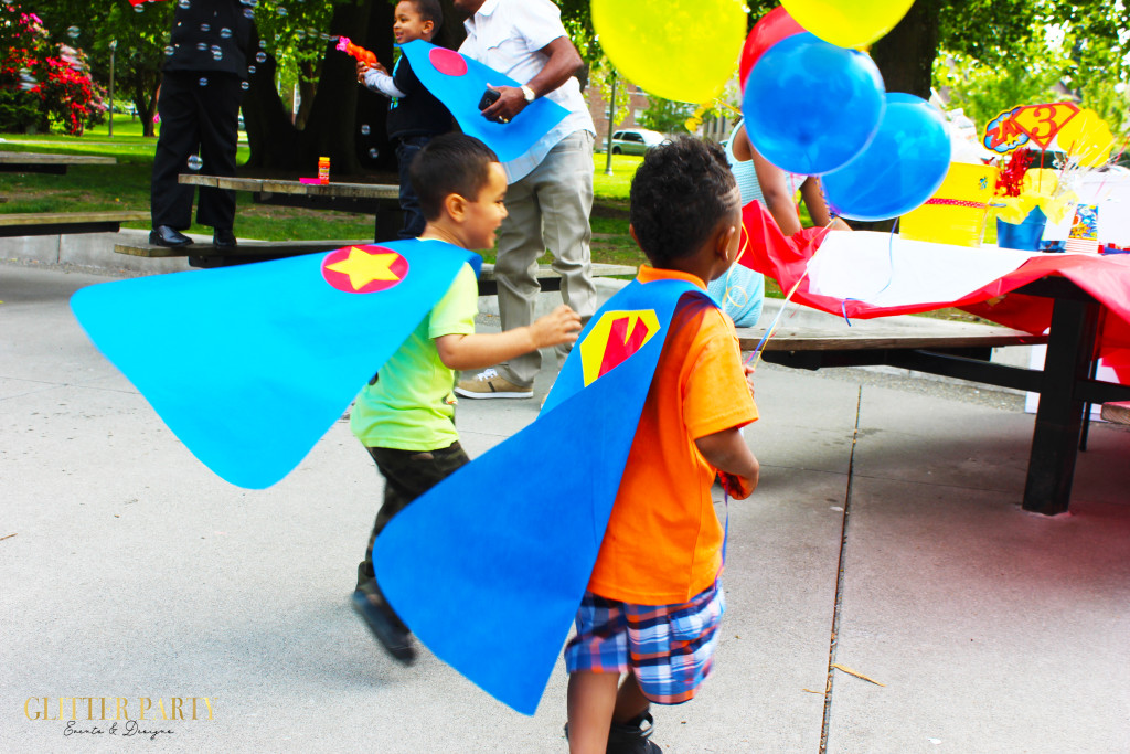super hero themed party ideas no sew capes