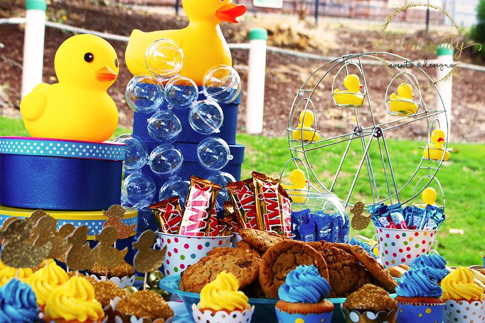 rubber duck themed pool party