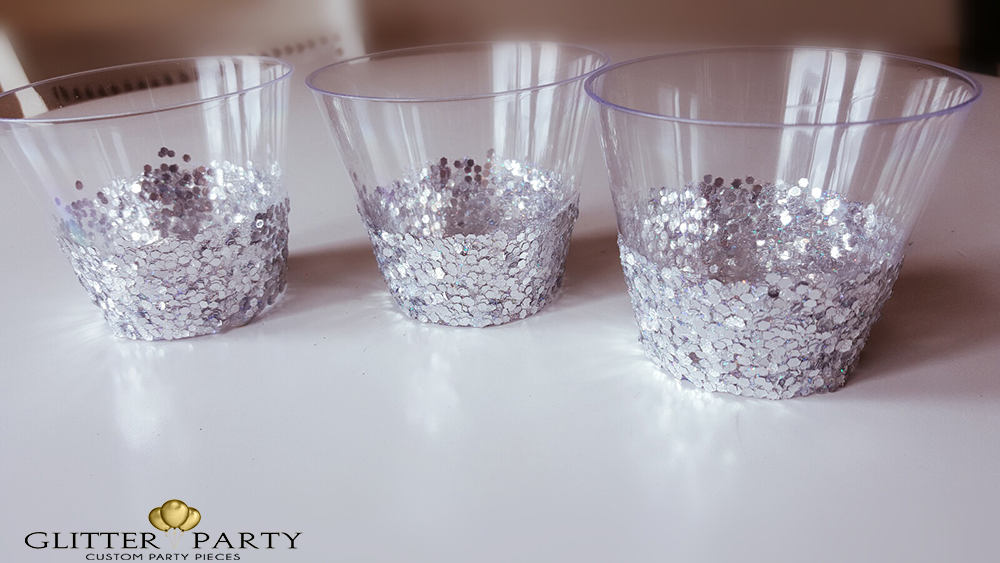 diy glitter party cups