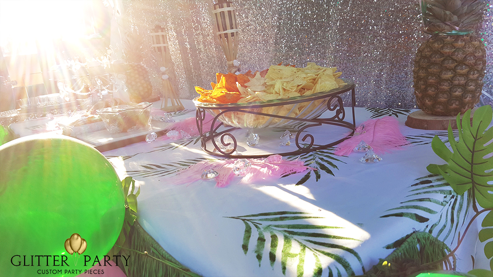 tropical glam birthday party
