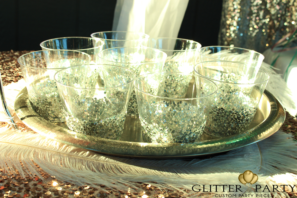 party diy glitter cups