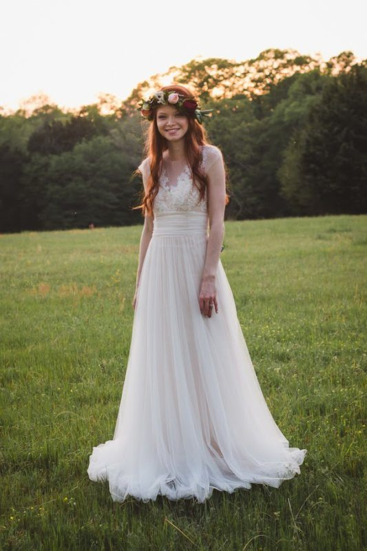 bride standing and smiling