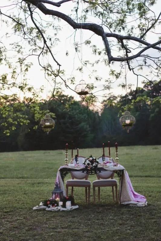 whimsical sweetheart table