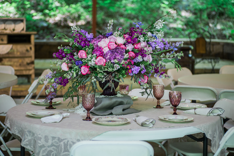 Vintage Purple Vow Renewal At The Barn At Boone Falls, Tennessee