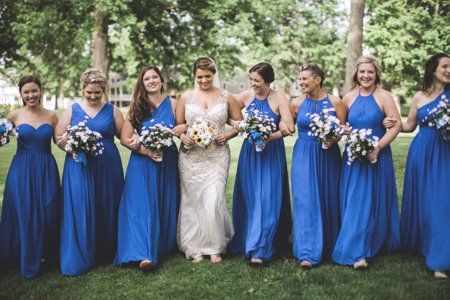 Blue and Yellow Country Club Wedding in West Virginia