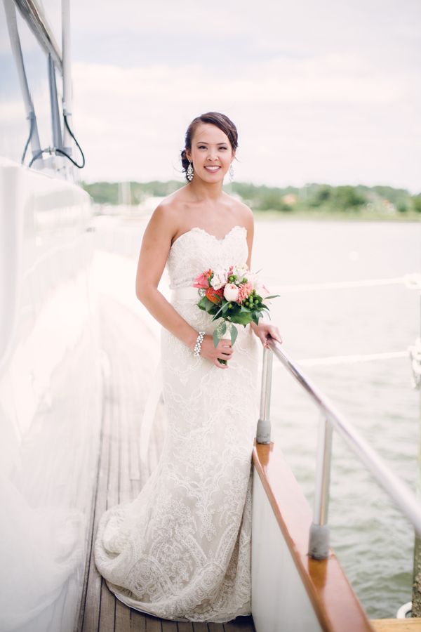 Nautical Yacht Wedding in North Carolina