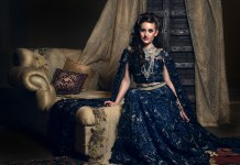 Indian Bridal wear - navy blue