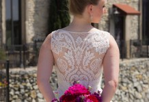 Detailed back wedding dress