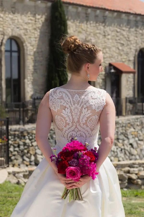 Detailed back wedding dress