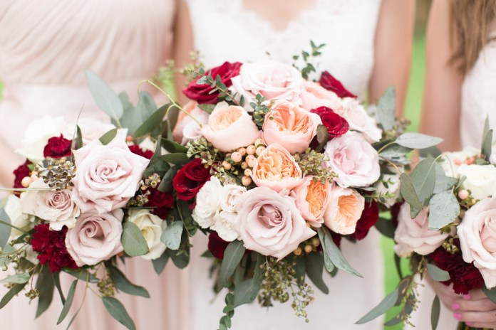 Romantic Blush and Burgundy Themed Wedding at Elkridge Furnace Inn in Maryland