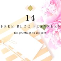 14 Free Printable Blog Planners