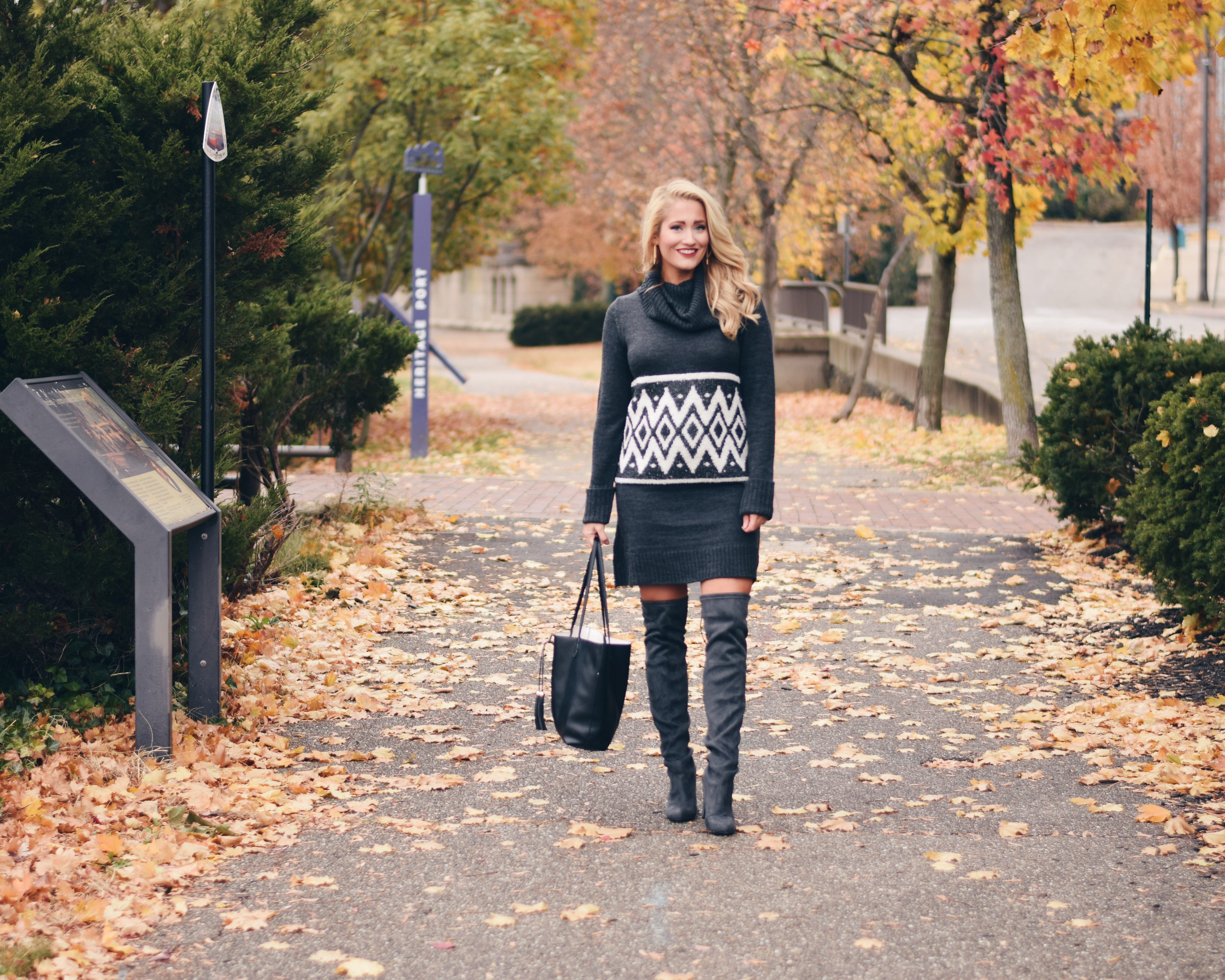 charming charlie sweater dress with boots