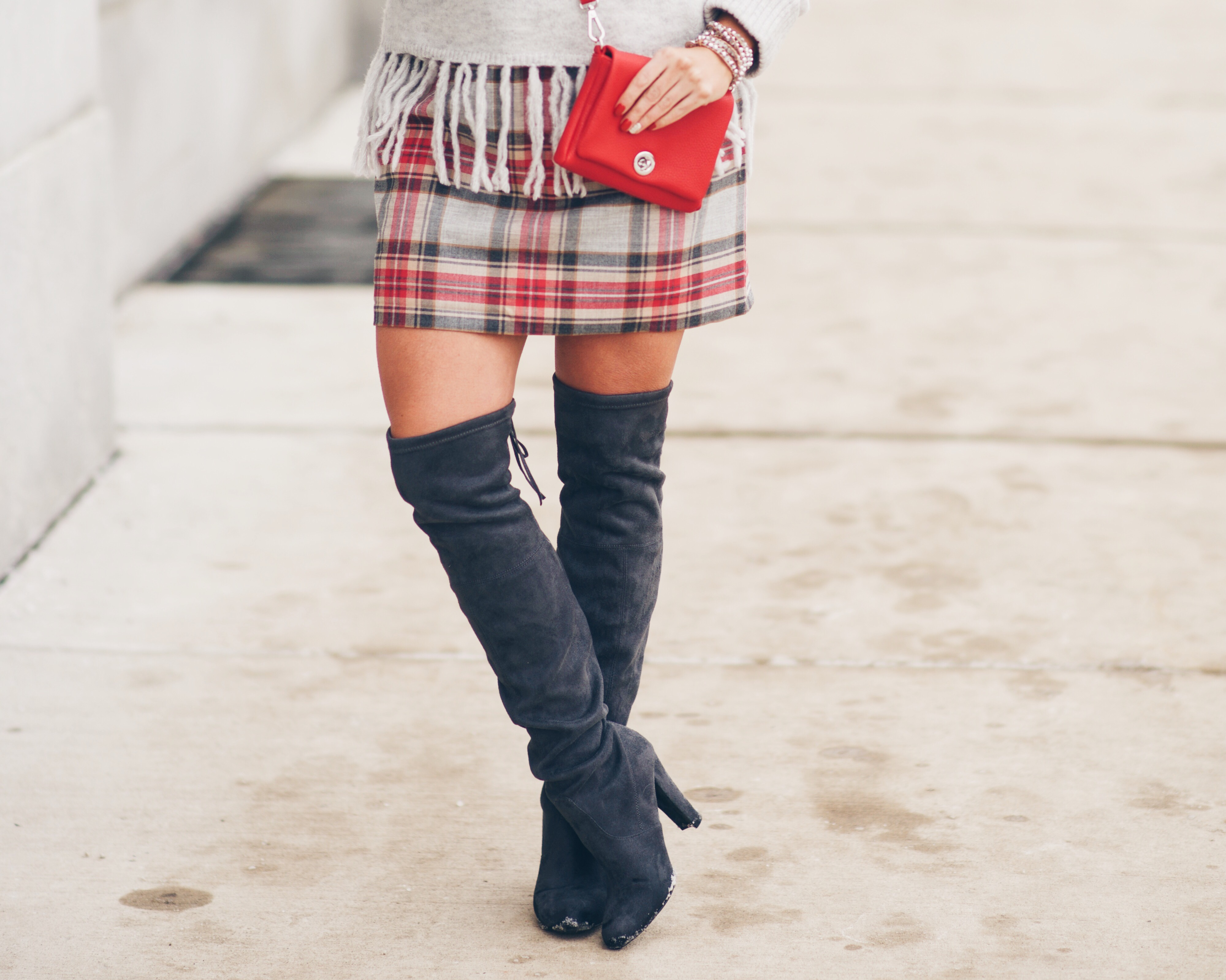 Steve Madden Grey Over the knee boots