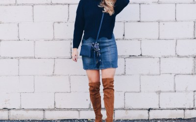 SCALLOPED HEM SWEATER
