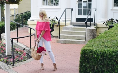 HOT PINK PLEATED TOP