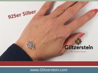 Schmuckverbinder Mandala 925 Silber (Variante 3)