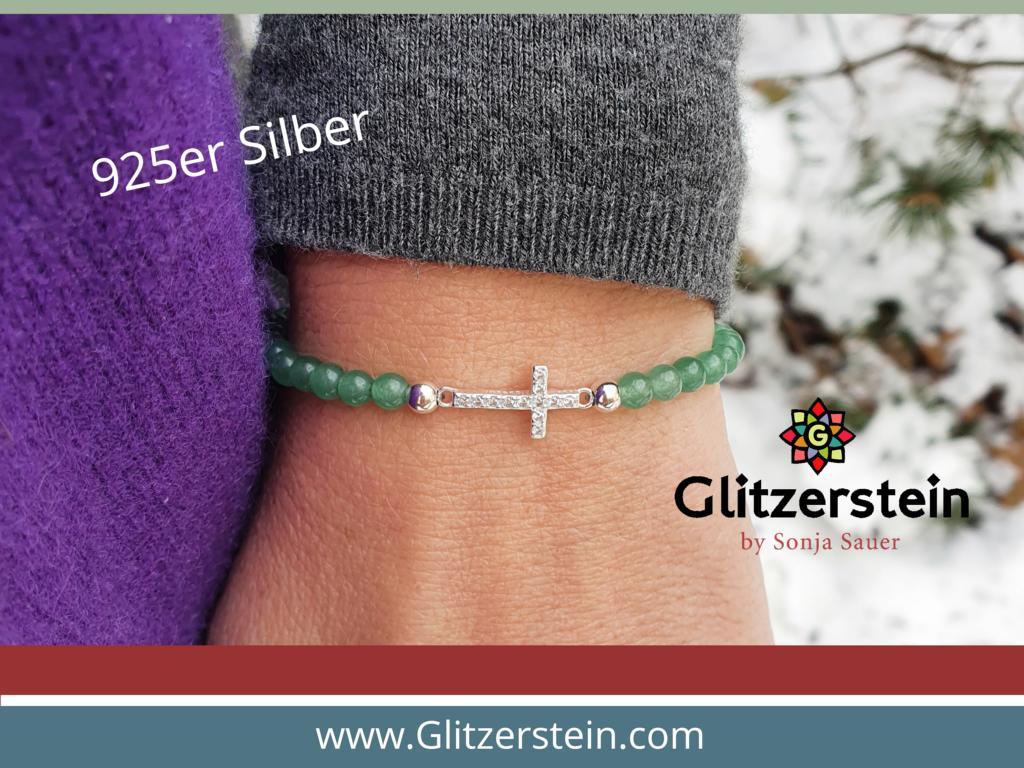 armband-aventurin-925-silber-kreuz-zirkonia-steine