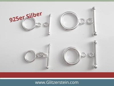Stab-Ring-Verschluss 925 Silber – beste Qualität 12 mm