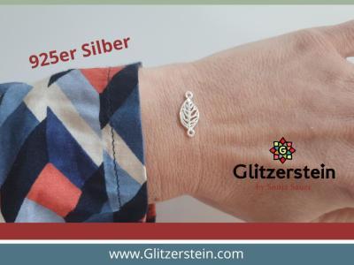 Schmuckverbinder Leaf 925 Silber