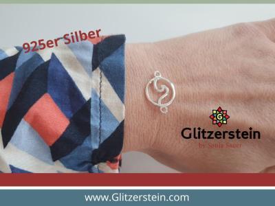 Schmuckverbinder Welle 925 Silber