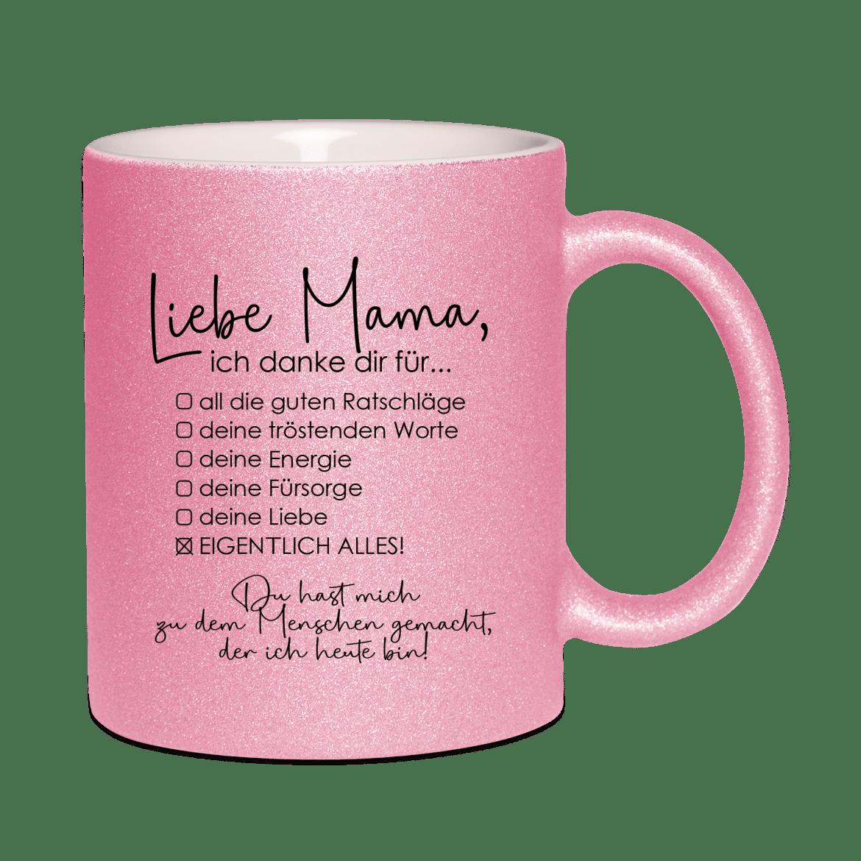 Liebe Mama, ich danke dir für...