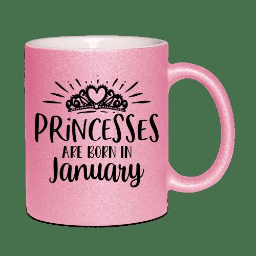 Princesses are born in - glitzertassen