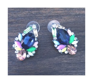 Colourful spring jewel earrings $15