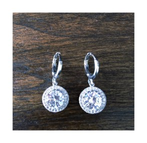 Silver bling drop earrings $10