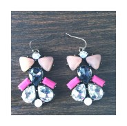 Pink deco earring $15