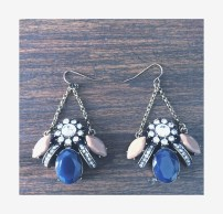 Lapis and taupe chandelier earrings $15