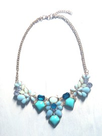 Turquoise deco design necklace $20