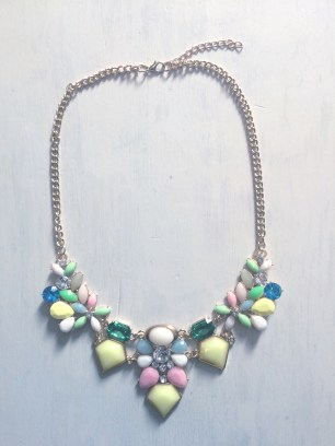 Pastel & Jewel tone deco necklace $20