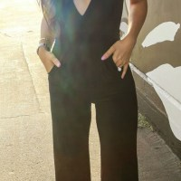 Black Plain Bandeau High Waisted Wide Leg Sexy Long Jumpsuit