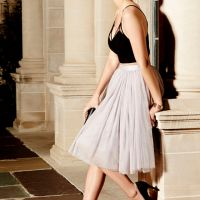 Cute Grey Skirt - Tulle Skirt - Ballerina Skirt