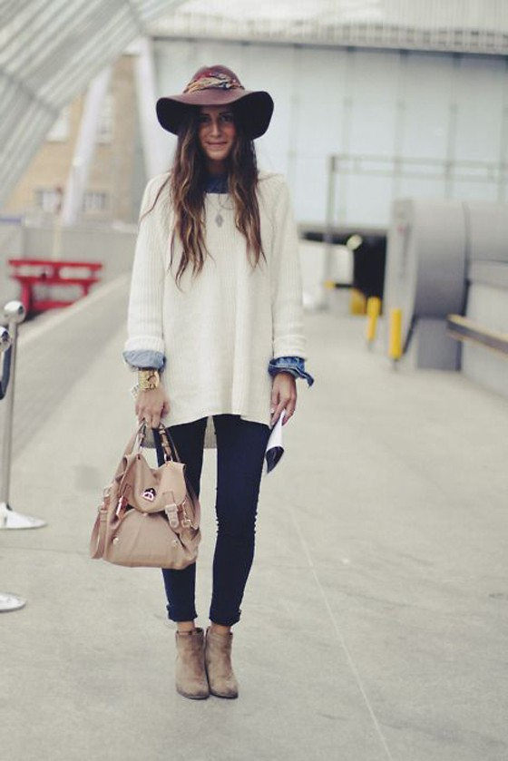 White Plain Irregular Long Sleeve Fashion Pullover Sweater