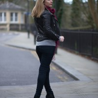 A Leather Biker Jacket With Jeans | Raindrops of Sapphire