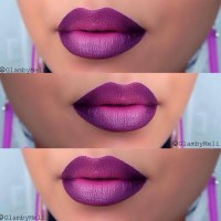 Deep Purple Ombre Lips by Melissa M | Preen.Me