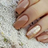 Beige Nail Designs fall 2016