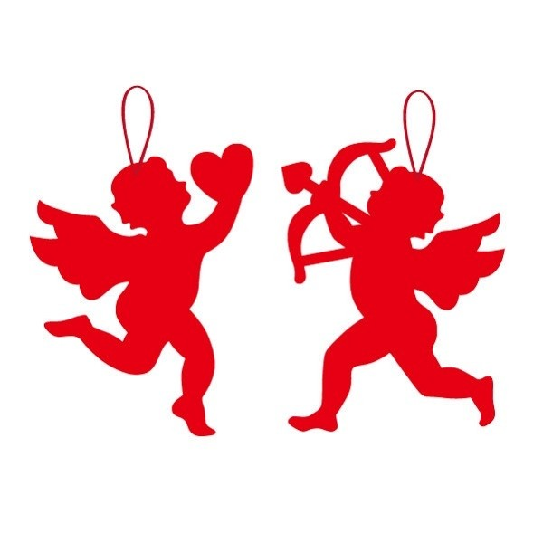 Flomo Valentine S Day Cupid Glitter Hanging Decoration